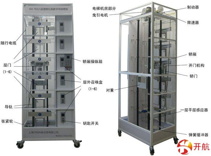 KH-703六层透明仿真教学电梯模型